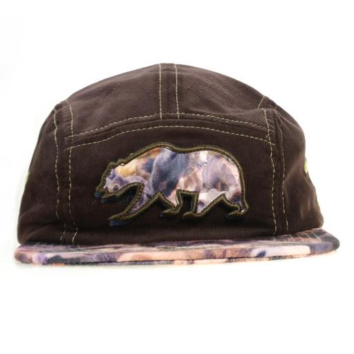 Removable Bear Real Print 5 Panel Snapback