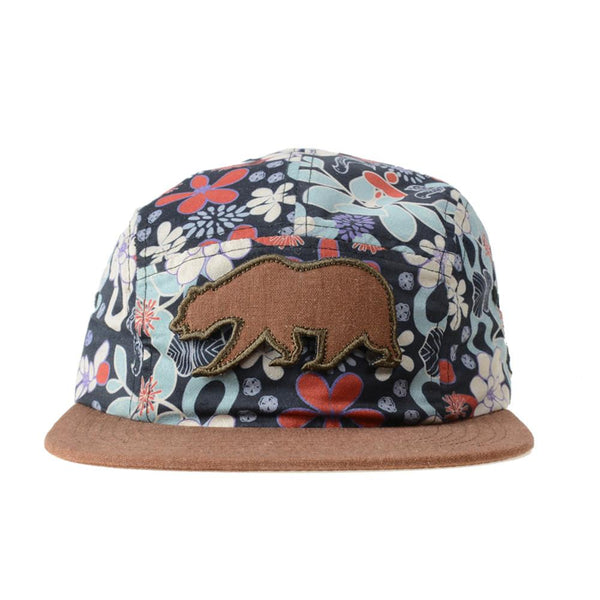 Removable Bear Retro Floral 5 Panel Strapback - Grassroots California - 1