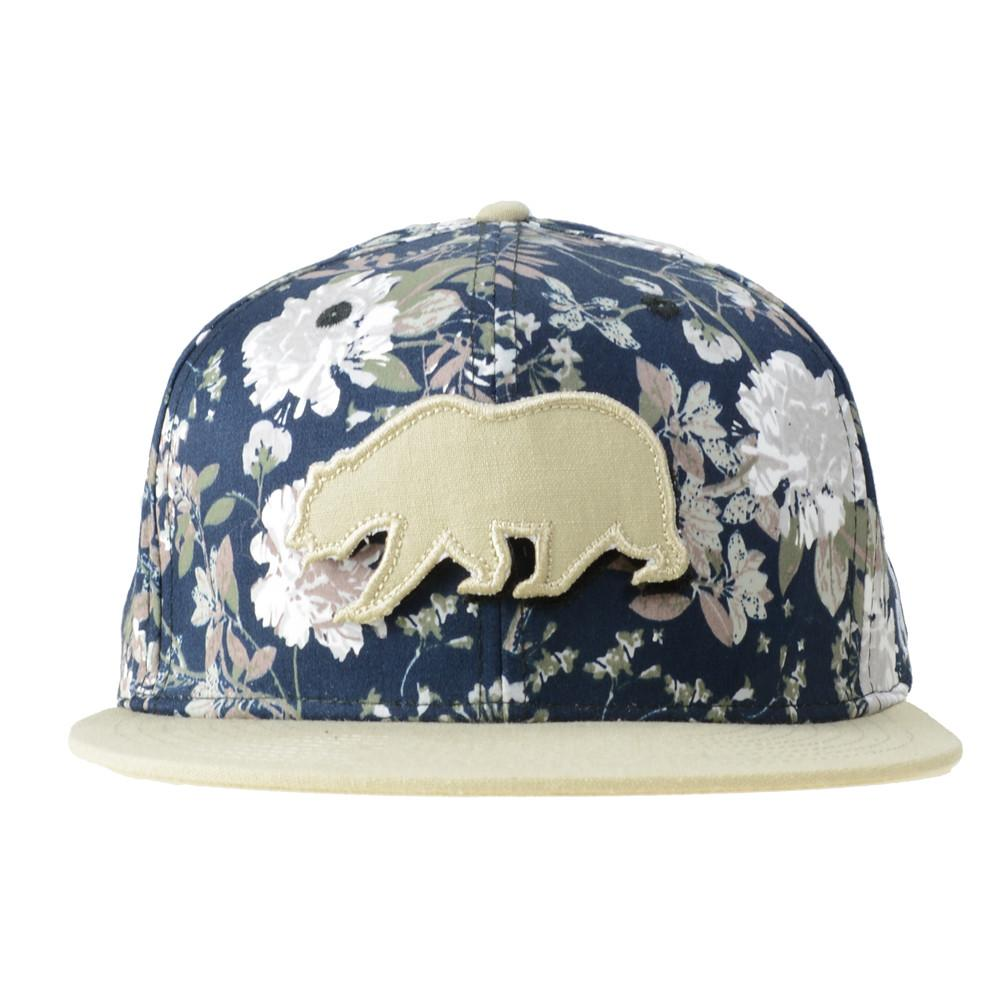 Removable Bear Vintage Floral Snapback