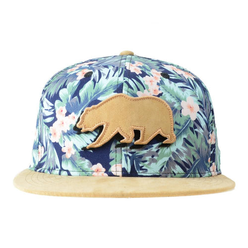 Removable Bear Water Flower Strapback - Grassroots California - 1