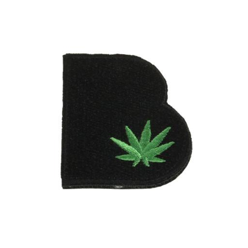 Removable Bolder Extracts Black Leaf Patch - Grassroots California
