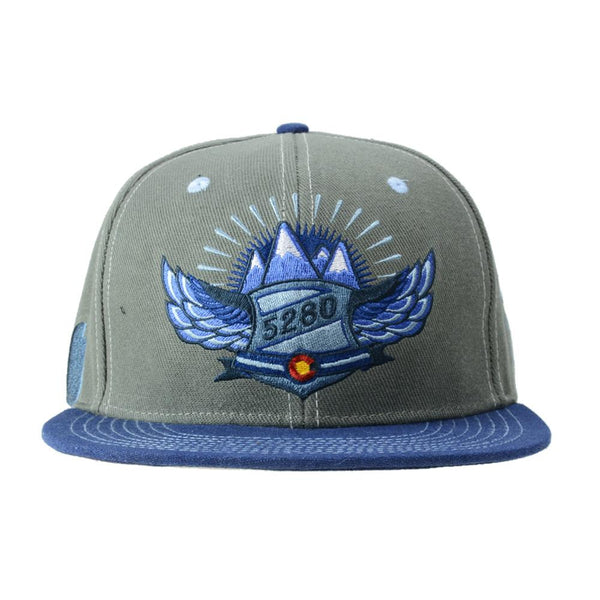 Rocky Mountain High Life Gray Fitted - Grassroots California - 1