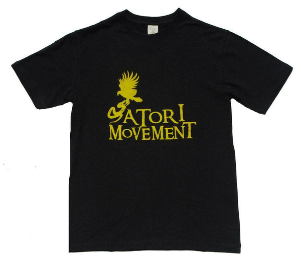 Satori Movement Hawk vs. Snake Black Hemp Shirt - Grassroots California