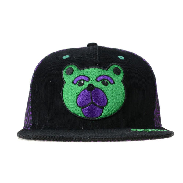 Shurlok Holm Bear Black Purple Snapback - Grassroots California - 1