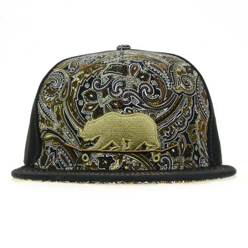 Skateboard Bear Paisley Brown Fitted