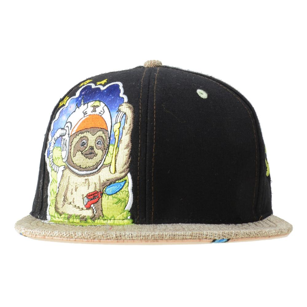Slabbington The Space Sloth Black Fitted - Grassroots California - 1