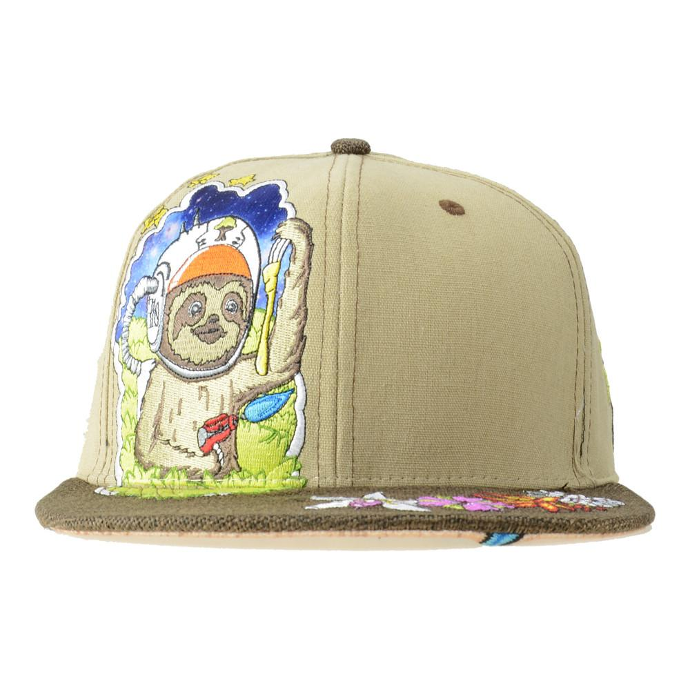 Slabbington The Space Sloth Tan Snapback