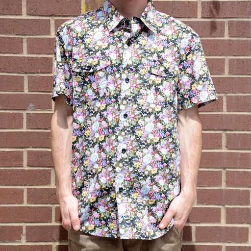Small Floral Button Up Short Sleeve