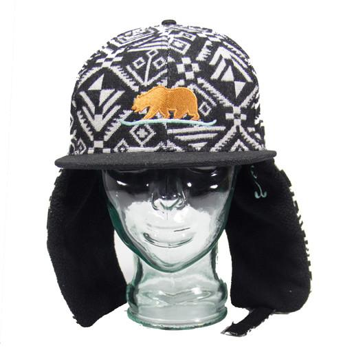 Snowboarding Bear Earflap Fitted - Grassroots California