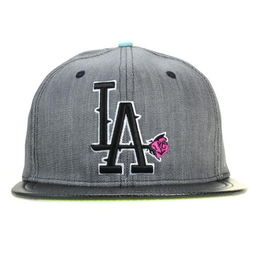 So Gnar LA Denim Leather Snapback - Grassroots California - 1