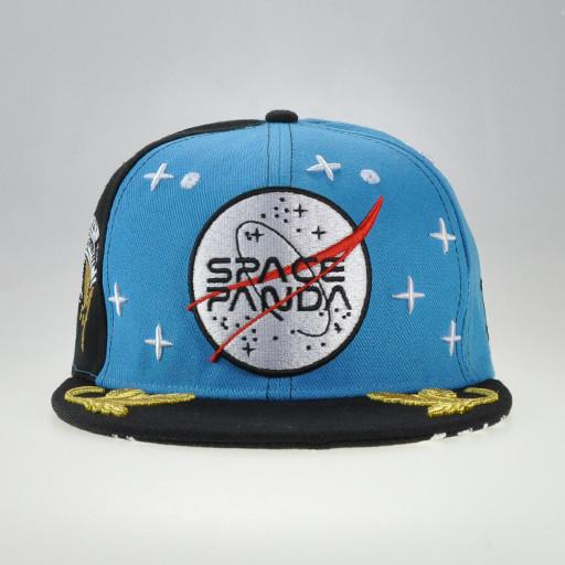 Space Panda Blue Fitted