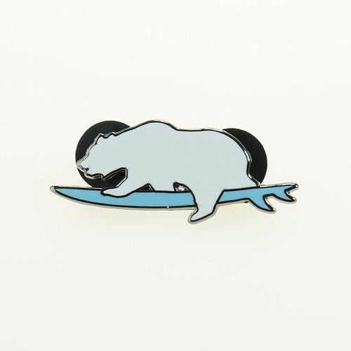 Surfing Polar Bear Pin - Grassroots California