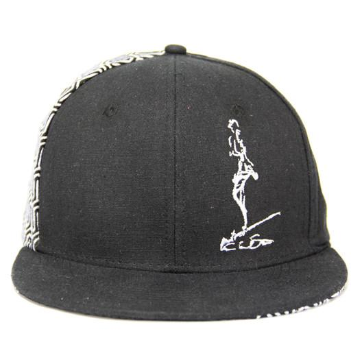 The Cali Connection V3 Fitted Soft Hemp Black w/ White Pattern