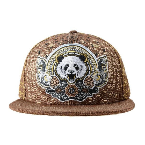 Third Eye Pinecone Panda Brown Fitted - Grassroots California - 1