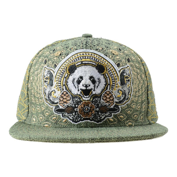 Third Eye Pinecone Panda Green Fitted - Grassroots California - 1