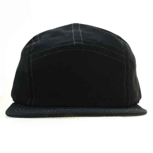 Touch of Class All Black 5 Panel Strapback - Grassroots California - 1