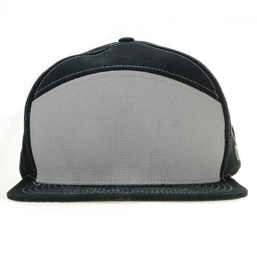 Touch of Class Black Gray 6 Panel Snapback - Grassroots California - 1