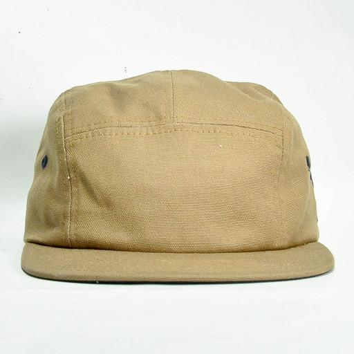 Touch of Class - Brown Canvas 5 Panel Strapback - Grassroots California - 1