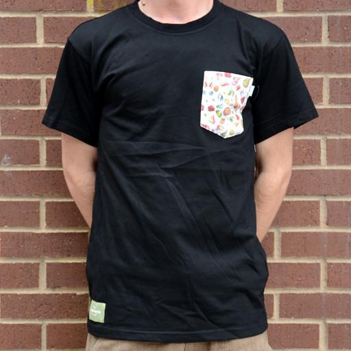 Turner Sprout Seashell Black Pocket Tee - Grassroots California