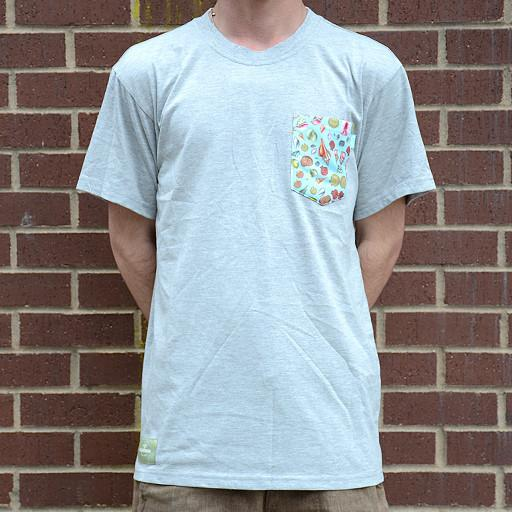 Turner Sprout Seashell Gray Pocket Tee - Grassroots California