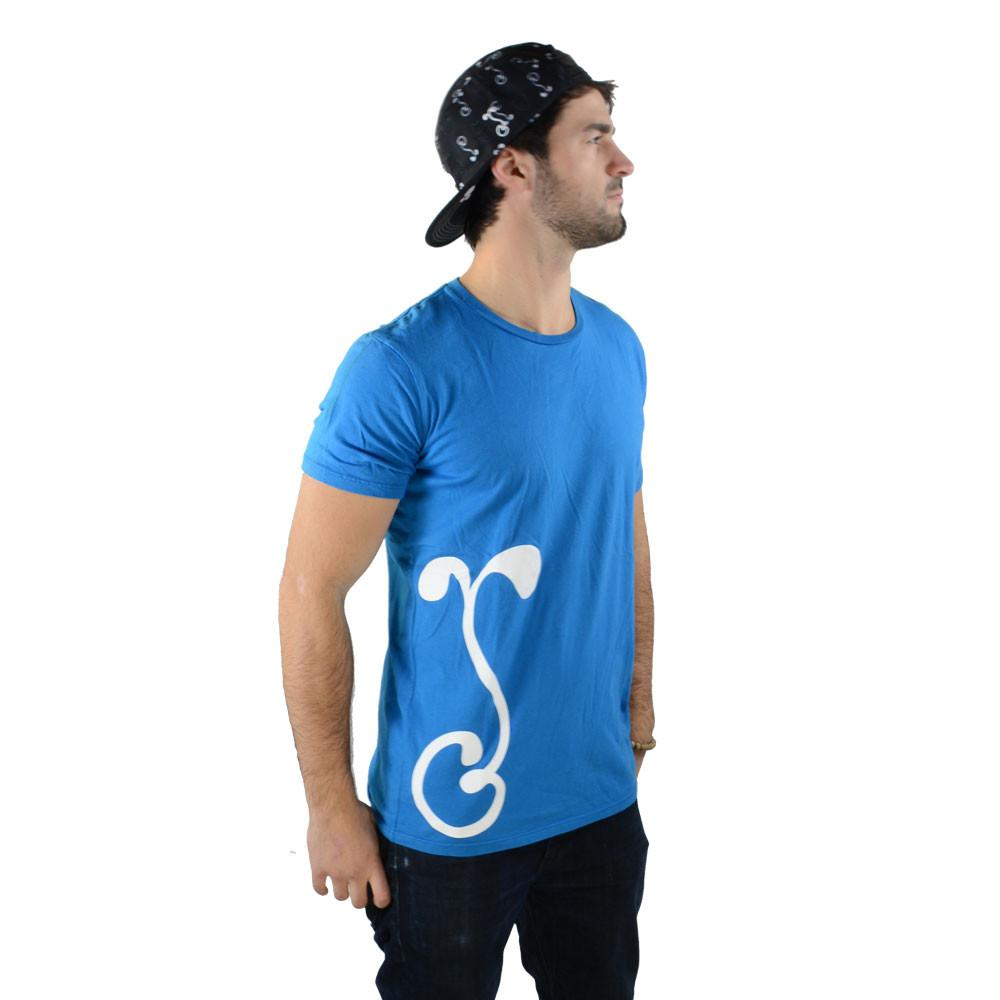 White Side G Sprout Blue T Shirt