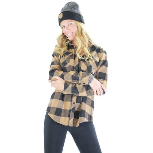 Women's Black Brown Flannel - Grassroots California