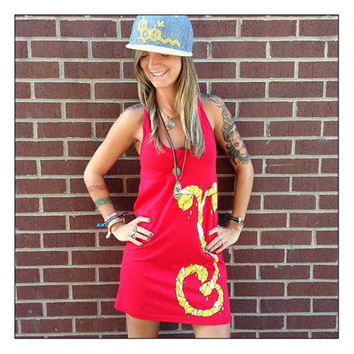 Women's Mosaic Sprout Red Dress - Grassroots California