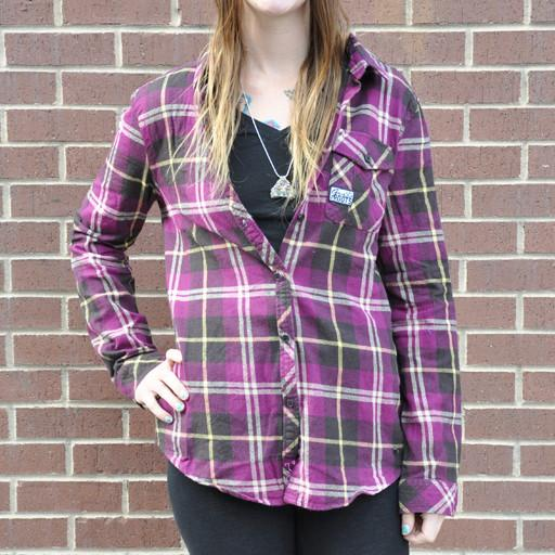 Women's Yellow Purple Cream Flannel 2015 - Grassroots California