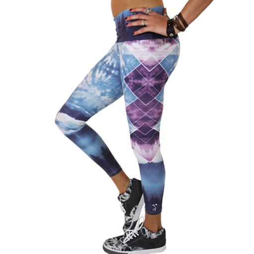 Women's Sky Blue Forest Leggings - Grassroots California - 4