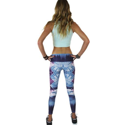 Women's Sky Blue Forest Leggings - Grassroots California - 5