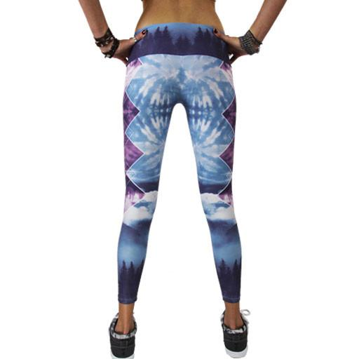 Women's Sky Blue Forest Leggings - Grassroots California - 6