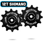 BBinfinite Shimano Road 12T Ceramitech Pulley Set - Retro Road