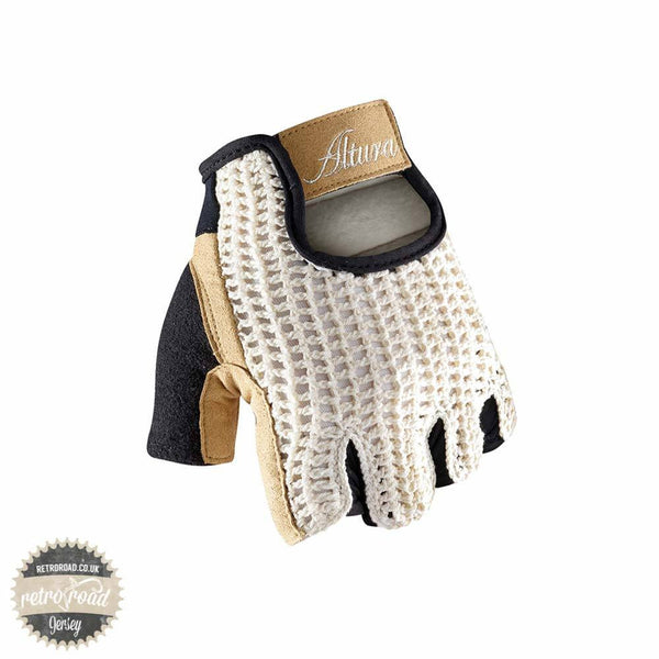 Altura Classic Crochet Mitts - Tan - Retro Road