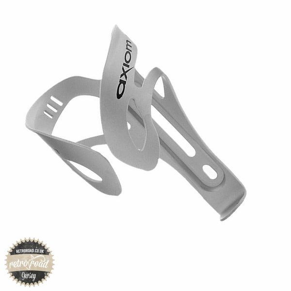 Axiom Helix Alloy Bottle Cage - Silver - Retro Road