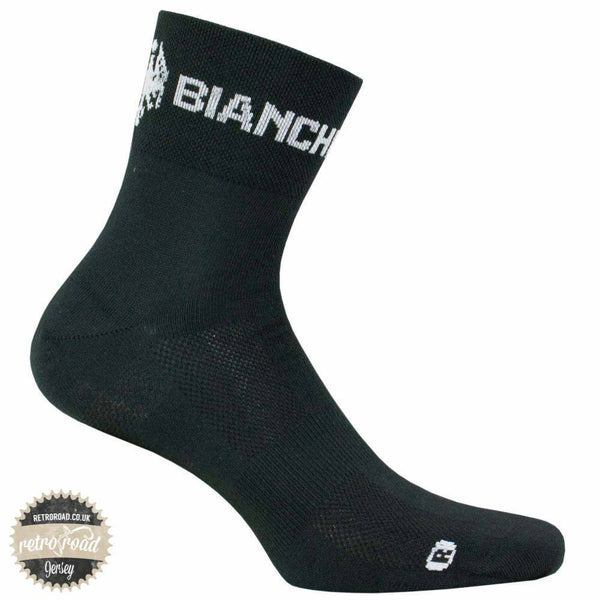 Bianchi Asfalto Socks - Black - Retro Road