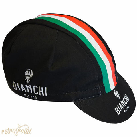 Bianchi Neon Black Cotton Cap - Retro Road