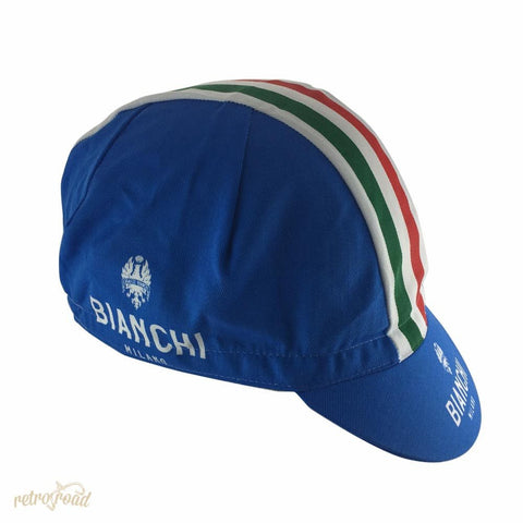 Bianchi Neon Blue Cotton Cap - Retro Road