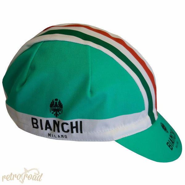 Bianchi Neon Celeste Cotton Cap - Retro Road