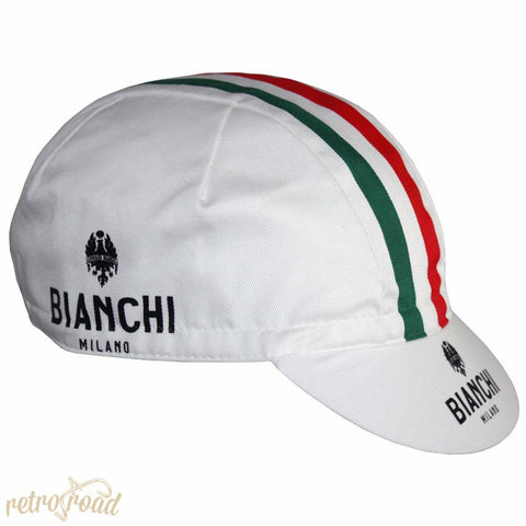 Bianchi Neon White Cotton Cap - Retro Road