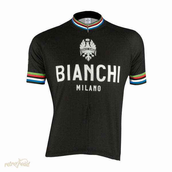 Bianchi Pride Short Sleeve Jersey - Black - Retro Road