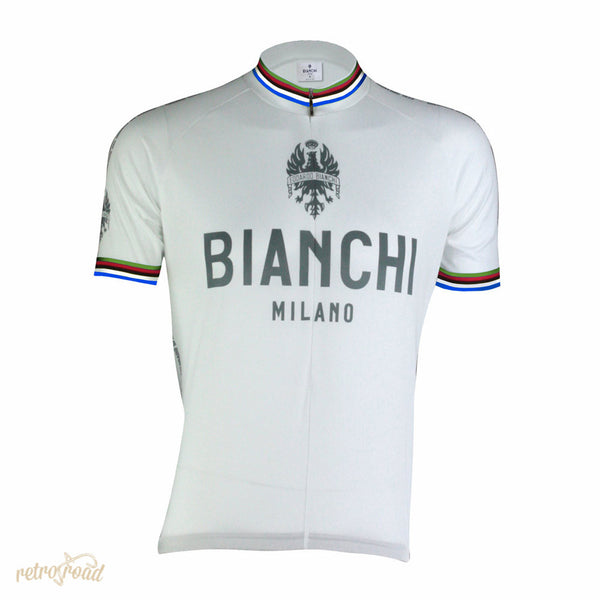 Bianchi Pride Short Sleeve Jersey - White - Retro Road