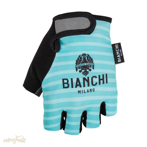 Bianchi Ter Mitts - Celeste/Stripes - Retro Road