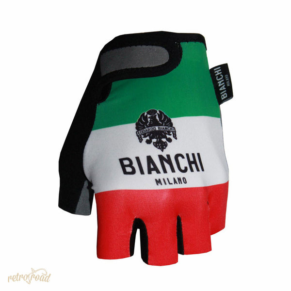 Bianchi Ter Mitts - Green/White/Red - Retro Road