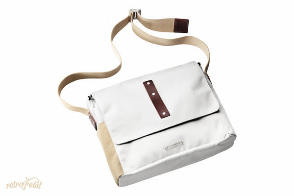 Brooks Euston Utility Shoulder Bag - White - Retro Road