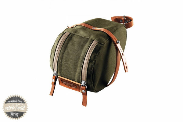 Brooks Isle Of Wight Saddle Bag - Green/Honey - Retro Road
