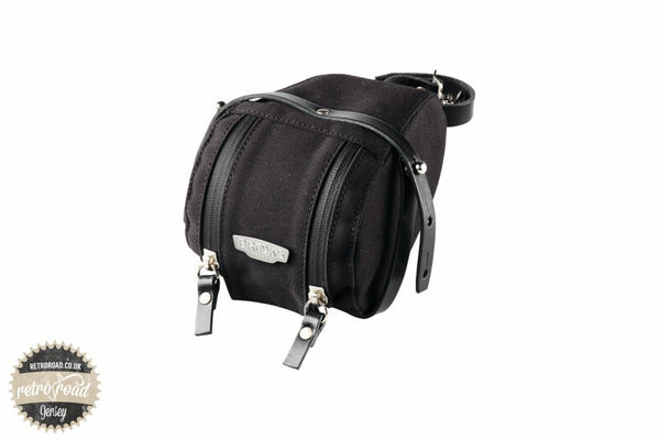 Brooks Isle Of Wight Saddle Bag - Black - Retro Road  - 1