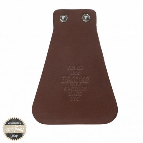 Brooks Leather Mudflap - Brown - Retro Road