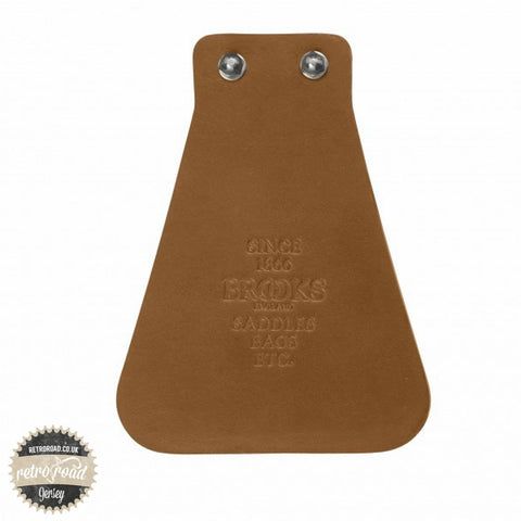 Brooks Leather Mudflap - Honey - Retro Road