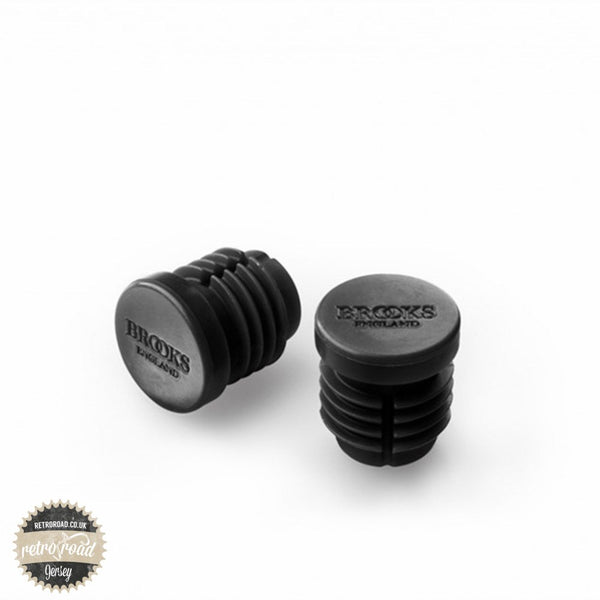Brooks Rubber Bar End Plugs - Black - Retro Road