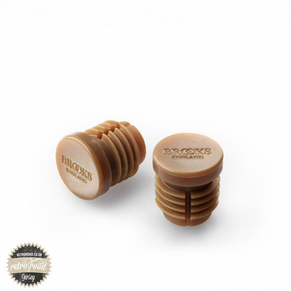 Brooks Rubber Bar End Plugs - Natural - Retro Road